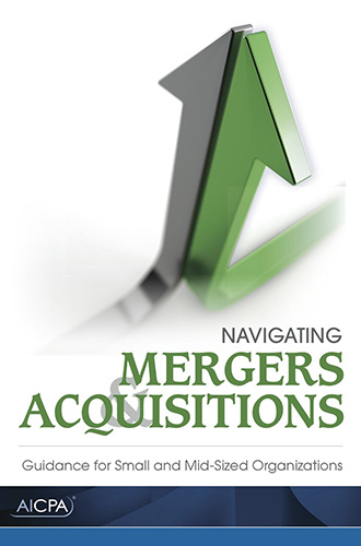 Navigating Mergers and Acquisitions book cover image.