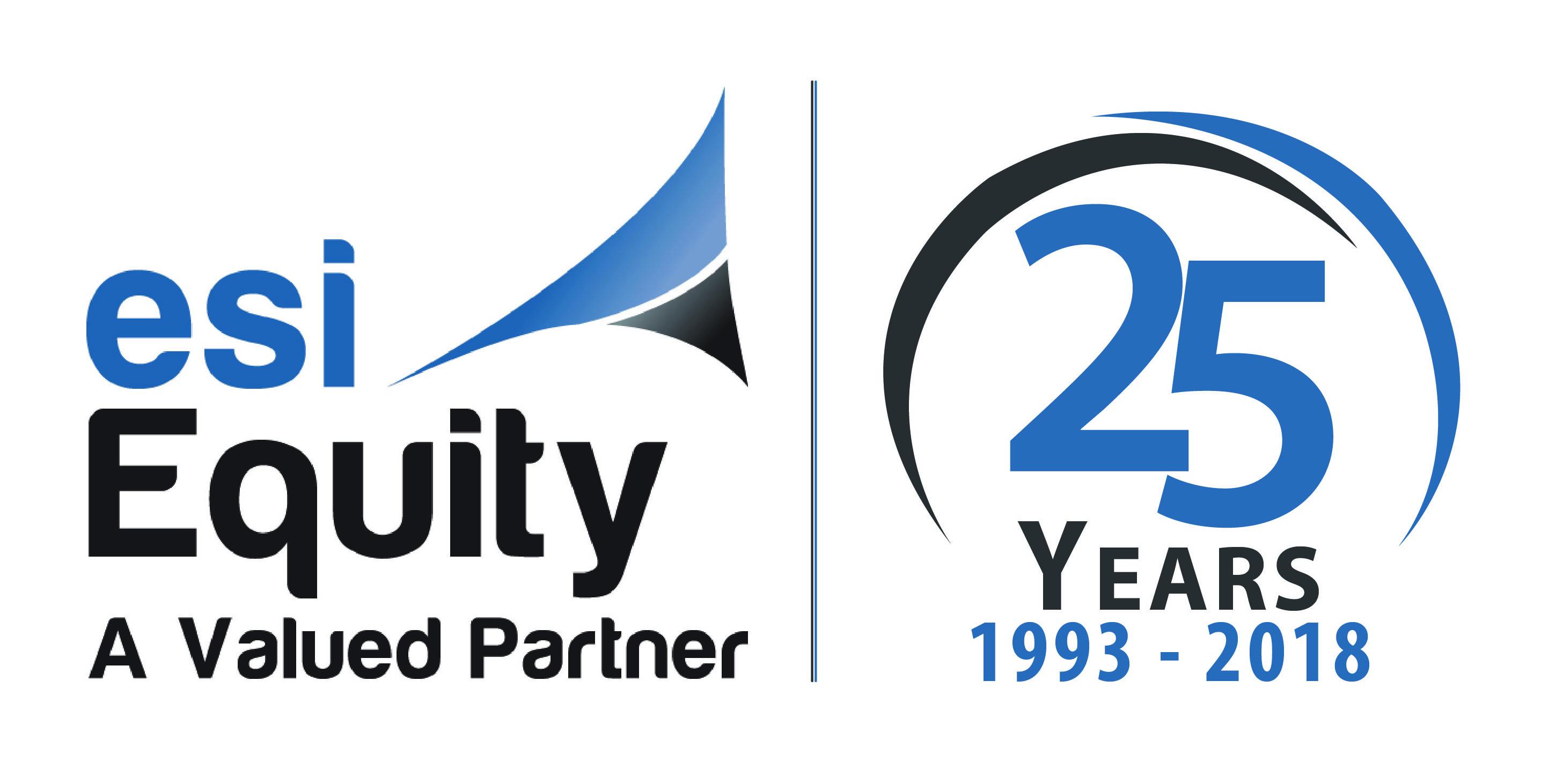 ESI Equity 25 year logo.